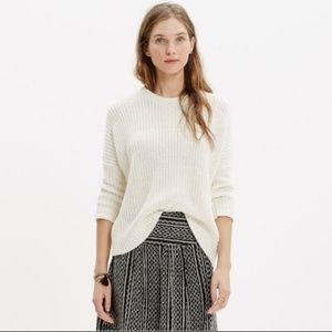 Madewell | Linen Shaker Chunky Pullover Sweater